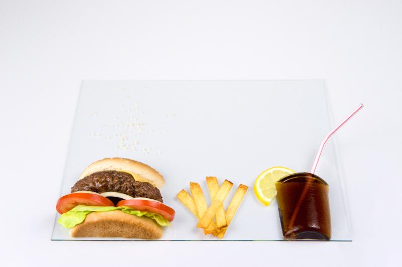 Slim flat burger