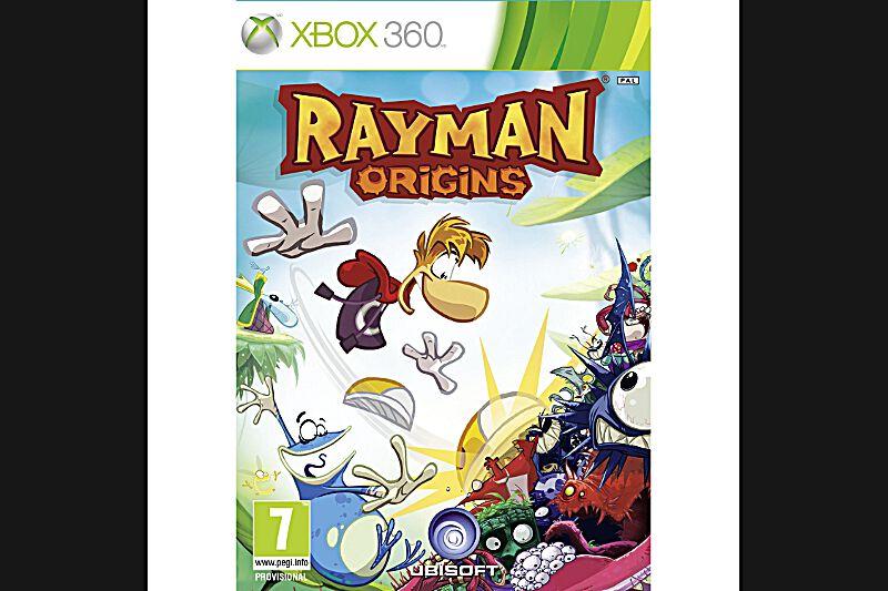 Rayman Origins (PS3, Xbox 360, Wii, PEGI 7)Et si le Mario de cette année était français? Après dix ans d'absence, le bonhomme sans bras ni jambes d'Ubisoft Montpellier fait son grand retour dans un jeu de plateforme incontournable. Tout en 2D, Rayman Origins fleure bon le dessin animé.Environ 40€