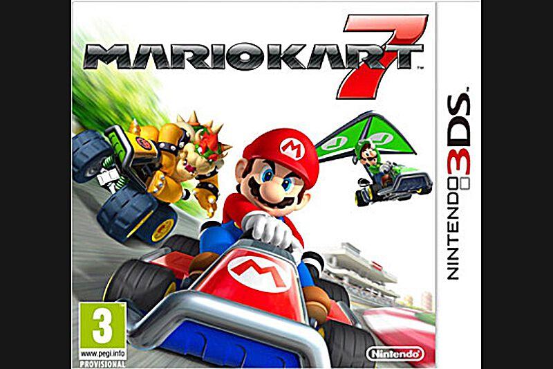 Mario Kart 7 (Nintendo 3D,  PEGI 3)Méfiez-vous, les démoniaques carapaces rouges sont de retour ! Véritable légende des jeux de rallye multijoueurs, Mario Kart débarque sur Nintendo 3DS avec un épisode ébourriffant. Grâce à un effet 3D en relief très convaincant, les courses endiablées entre Mario et ses amis sont plus intenses que jamais. Grande nouveauté, les karts peuvent désormais se transformer en deltaplanes ou en sous-marins, pour dénicher des raccourcis et faire enrager ses adversaires.Environ 50 €