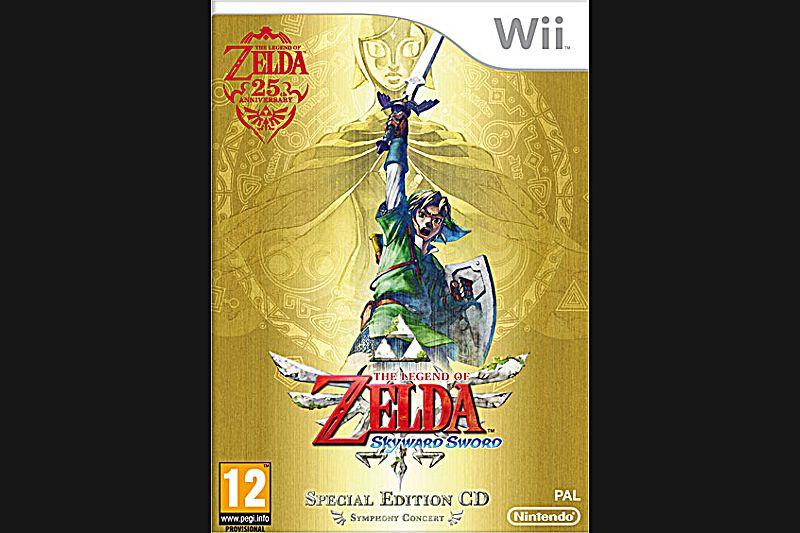The Legend of Zelda : Skyward Sword ( Wii, Wii Motion Plus obligatoire, PEGI 12)Cela fait 25 ans que tout de vert vêtu, Link vole à la rescousse de la princesse Zelda. A l'occasion de cet anniversaire, Nintendo livre un opus au design audacieux, qui plongera le joueur dans une aventure entre ciel et terre. Coté jouabilité, le Wii Motion Plus et sa précision amènent une expérience inédite dans les combats à l'épée et dans de somptueuses phases de vol à dos d'oiseau. Visuellement et techniquement très réussi, cet épisode s'impose comme un incontournable de cette fin d'année, le scénario et l'univers du jeu promettant de longues heures de jeu.Environ 39€