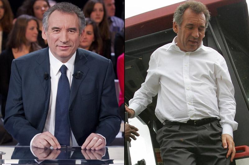 François Bayrou, la rigueur dans le costume. François Bayrou est capable d'être habillé pour conduire un tracteur dans le Béarn (photo droite), autant que de porter un costume-cravate «impeccable». «Son image est simple: il donne le sentiment de s'habiller de manière spontanée. Rien qui ne sorte de l'ordinaire», confirme Caroline Baly. Mais, d'après elle, «plus on s'approche de l'élection, plus il opte pour une image de présidentiable».Pour incarner la fonction présidentielle, le candidat du Mouvement démocrate a fait le choix du costume bleu marine. Une couleur qu'il arbore dans ses meetings, mais aussi lors de ses sorties médiatiques, comme sur le plateau de «Des paroles et des actes» (photo gauche). «Son costume était bleu marine, sa cravate aussi. C'est la couleur de la rigueur : elle renvoie à l'uniforme des officiers, décrypte la conseillère en image. Cela donne un côté intraitable, intransigeant». Et de conclure: «Cette image est cohérente avec sa personnalité et lui donne une crédibilité».