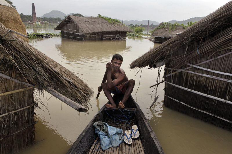 Au total, 26 des 27 districts de l'État de l'Assam ont été affectés par ces intempéries, et plus de 2000 villages ont été inondés.