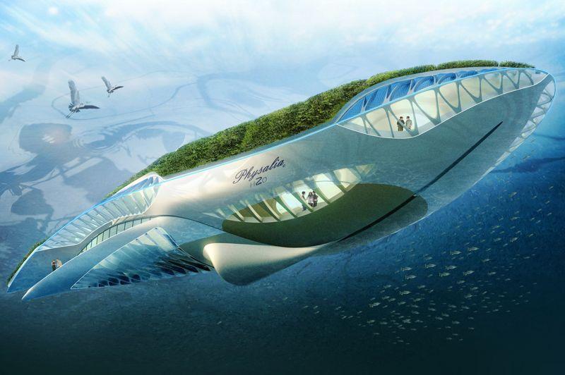 «Physalia» pourrait bien être le nouveau grand nettoyeur des fleuves européens. Ce «jardin amphibien à énergie positive» concilierait ainsi le transport par voie fluviale et l'épuration des eaux via un système de filtrage.