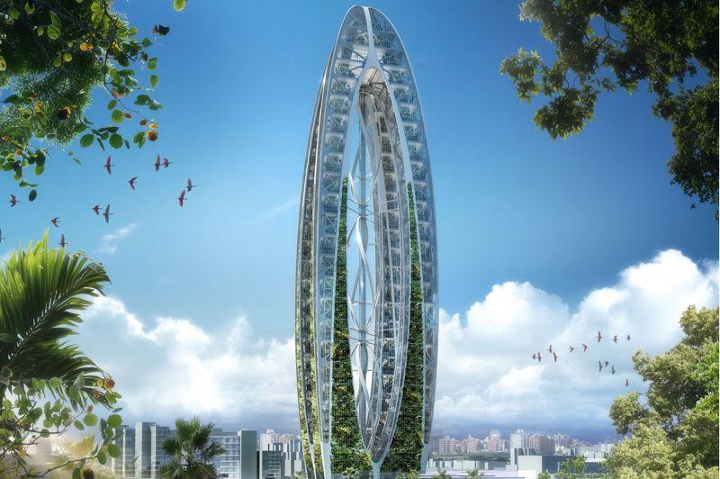 Le projet de cette tour à Taïwan baptisée «Arche bionique», mise pleinement sur l'écologie et le développement durable. En partenariat avec la ville de Taichung, la tour devrait voir le jour en décembre 2016, pour un coût approchant les 6,6 milliards de dollars taiwanais (équivalent environ à 177 millions d'euros)