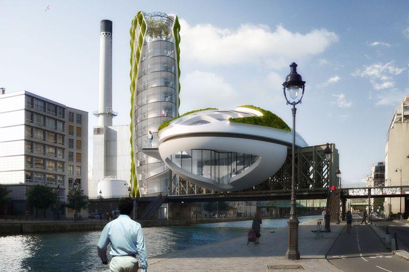 Le projet «Anti-Smog», qui se situerait à Paris dans le 19e arrondissement (canal de l'Ourq), aurait pour rôle de mettre en application des techniques avant-guardistes pour combattre le nuage de pollution  parisien. Du haut de ses 45 mètres, la «Tour du vent» (Wind Tower) diffusera en continu des informations. A ses côtés, la «Goutte d'eau» (Solar Drop) collectera les eaux de pluie et recueillera l'énergie solaire grâce à son toit photovoltaïque de 250 m² et produira de l'électricité.