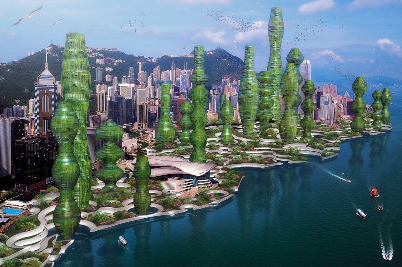 La «Jungle parfumée», projetée à Hong Kong, augure une véritable forêt urbaine écologique.Le concept: favoriser la cohabitation des habitants avec la flore, mais aussi la faune de ce nouvel espace.