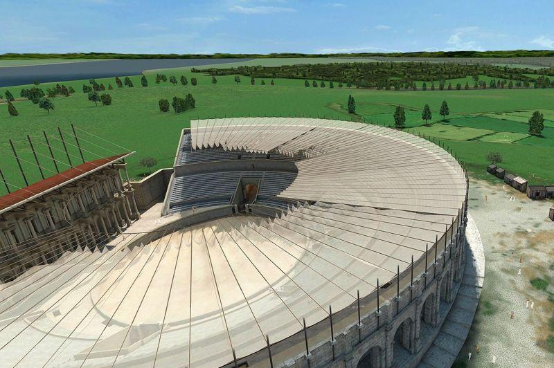 LES ARÈNES DE LUTÈCE Situées à l'extérieur de la ville romaine, les arènes de Lutèce (Ier siècle) pouvaient accueillir 17.000 spectateurs, alors que la population de la cité n'excédait pas 10.000 âmes. Cet amphithéâtre attirait un large public, venant souvent de loin, friand de combats entre gladiateurs ou avec des fauves ramenés d'Afrique, d'exécutions de prisonniers ou de représentations théâtrales. La piste centrale elliptique présente un axe de 52,50 m. La scène de théâtre, dressée sur le podium, mesure 41,20 m de longueur. Elles sont restées en activité jusqu'à la première destruction de Lutèce à la fin du IIIe siècle. En 1869, Théodore Vacquer les redécouvre à la faveur du percement de la rueMonge et elles bénéficient d'une restauration en 1917-1918.