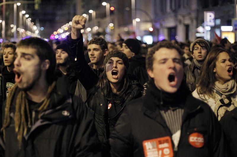 Les manifestations ont débuté dès mardi soir dans la capitale espagnole.