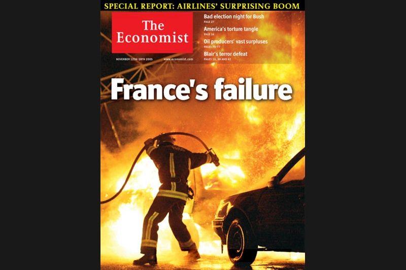 En novembre 2005, les émeutes dans les banlieues françaises représentaient d'après The Economist «l'échec de la France».