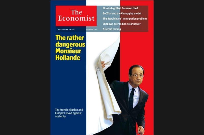 En avril dernier, The Economist n'accueillait pas d'un bon oeil l'élection de François Hollande, qu'elle qualifiait d'homme «plutôt dangereux».