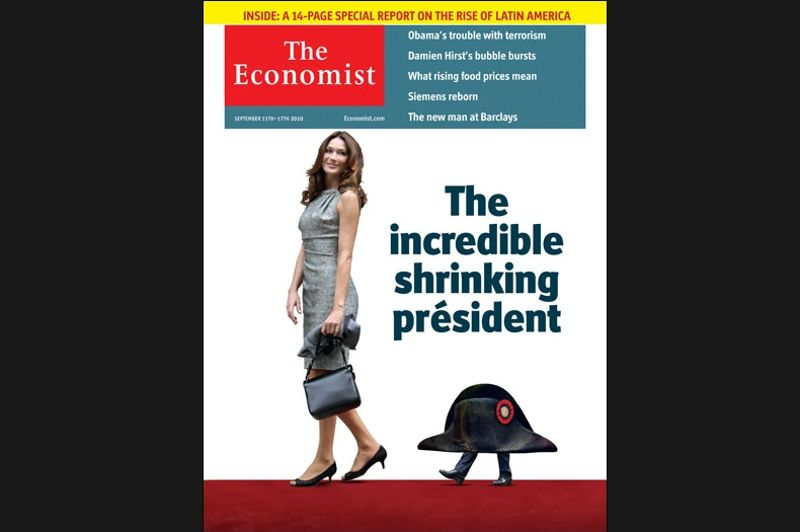 La couverture du 11 septembre 2010 se moquait de Nicolas Sarkozy, «Président rétressissant».