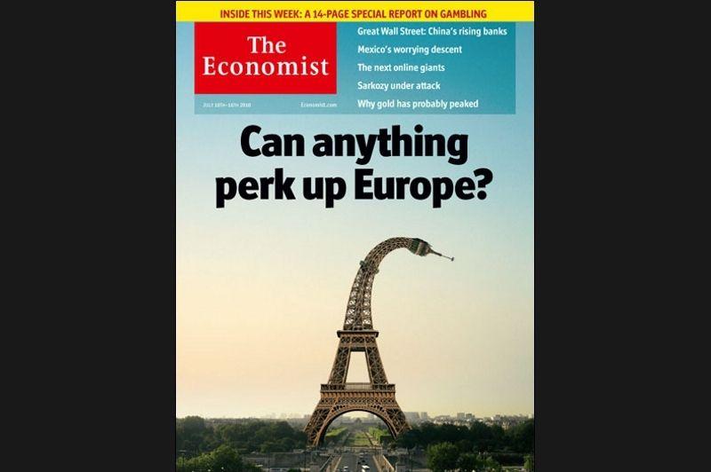 Même lorsqu'il s'agit de l'Europe dans son ensemble, la France semble être le symbole de l'échec pour The Economist.