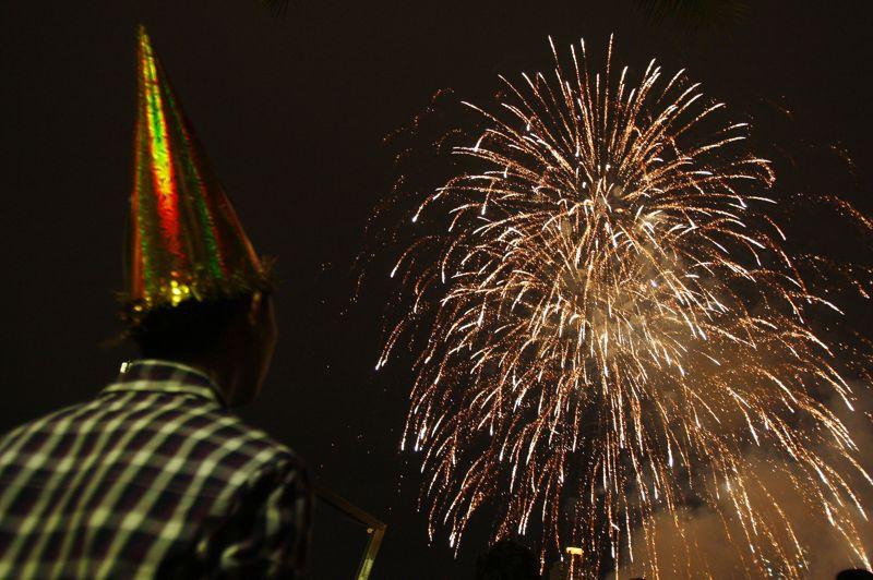 Des célébrations du Nouvel an ont également eu lieu à Petaling Jaya, près de Kuala Lumpur, en Malaisie.