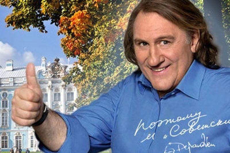 La notoriété de Gérard Depardieu n'a pas échappé à une banque russe, qui a choisi l'acteur français pour promouvoir sa carte de crédit dans une publicité.