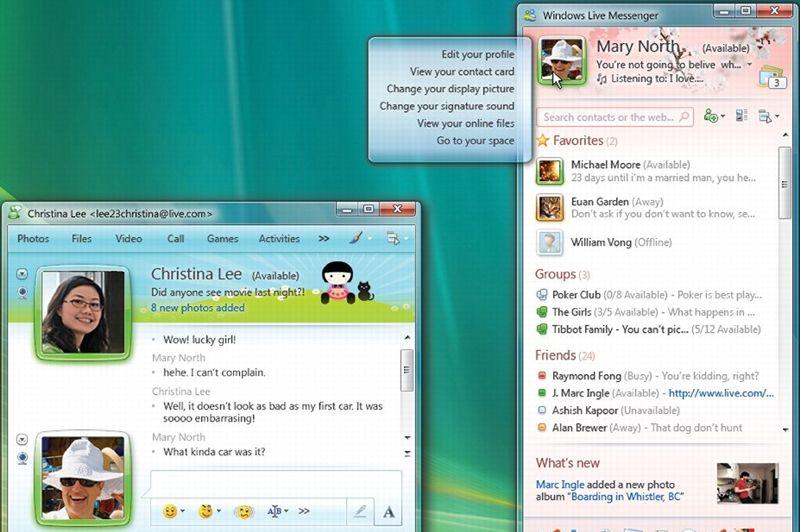 Microsoft revoit à nouveau le design de son service phare fin 2008 avec la version 9 de Live Messenger. Cette mise à jour permet de se connecter depuis plusieurs ordinateurs avec un même compte, et d'échanger d'un simple glisser-déposer des photos. S'estimant menacé par la montée en puissance des réseaux sociaux, Microsoft intègre en bas de la fenêtre principale le bloc «Quoi de neuf», qui indique en temps réel les changements de statuts des contacts de l'utilisateur. Live Messenger est alors à son apogée et revendique 300 millions d'utilisateurs actifs mensuels, dont 20 millions en France, en juin 2009.
