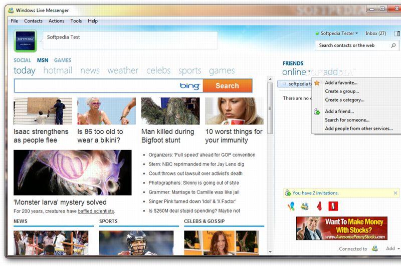 En moins d'un an, le paysage d'Internet a rapidement évolué: Facebook est en pleine vitesse de croisière, Twitter commence à se faire connaître, et les plus de 20 ans migrent en masse de Live Messenger vers Gtalk, au design plus adulte et épuré. Microsoft réagit avec la version 2011 de sa messagerie, qui met largement en avant le «Quoi de neuf», ainsi que les contenus de MSN Actu. Les allergiques à ce changement complet peuvent néanmoins n'afficher que la fenêtre de conversation classique.