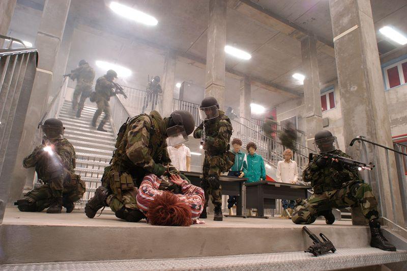 En stage . Dans les locaux du centre d'entraînement des forces spéciales, l'escadron «Invex», spécialisée dans la lutte contre le terrorisme et les prises d'otages, participe à un exercice de simulation. Les forces spéciales de l'armée Française sont au cœur de l'engagement au Mali. Elles combattent en première ligne et encadrent certaines unités de l'armée malienne.