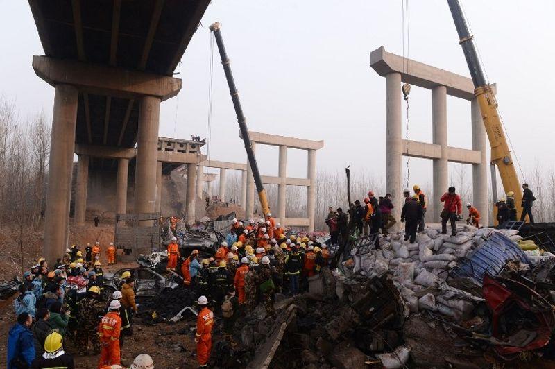 Les autorités locales de la ville de Sanmenxia font état d'un bilan de 5 morts et 11 blessés. La radio Chine internationale parlait de son côté de 26 morts, avant d'effacer cette information de son site Internet.