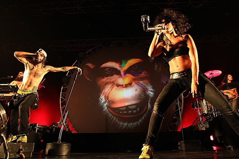 SPECTACLE MUSICAL / TOURNÉE / CONCERT: The Geeks Tour de Shaka Ponk - Ils sont peut-être les seuls français capables de rivaliser avec les productions internationales en termes de show...» Retrouvez leur prestation au Live