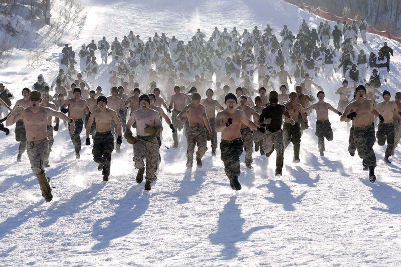 Le dépaysement est complet pour les soldats du premier bataillon de la 3-Marine Expeditionary Force, basé à Hawaï.
