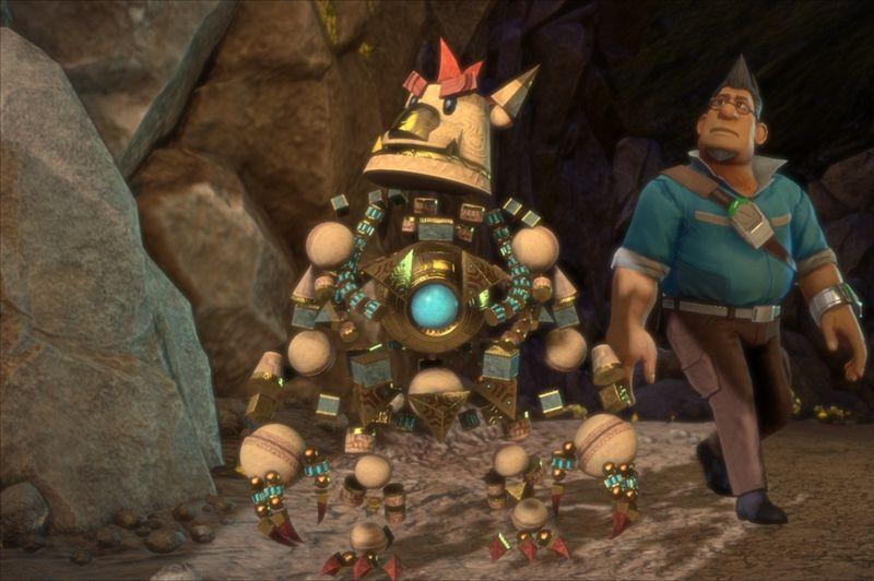 Knack - Le premier jeu dévoilé sur PS4 possède une esthétique proche d'un film d'animation Pixar ou Dreamworks. Ce jeu d'action, mis en valeur pour son interactivité avec la Vita, met en scène un golem pouvant assimiler des éléments et s'agrandir à loisir.