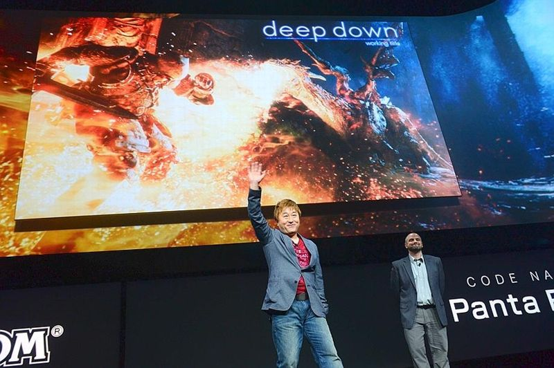 Deep Down - Présenté par Capcom, ce jeudi, ce nom provisoire va servir de vitrine pour un tout nouveau moteur graphique, appelé Panta Rhei. Une vidéo d'introduction montre un jeu de rôles de genre Heroic Fantasy.