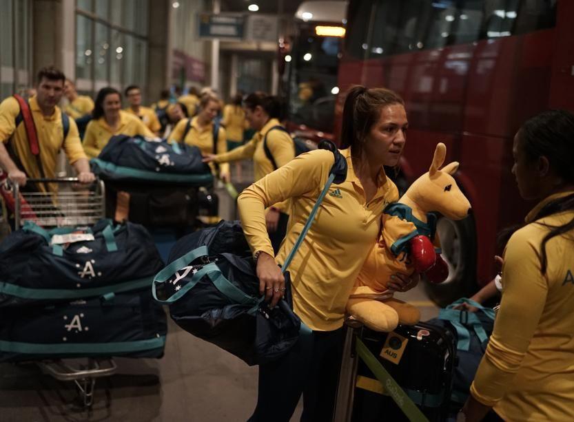 L'installation de l'Australie au village olympique a été perturbée par un incendie.