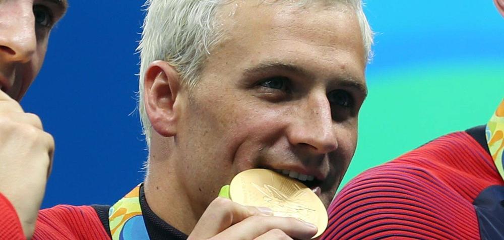 Ryan Lochte, le controversé nageur qui avait menti sur un supposé braquage à main armée.