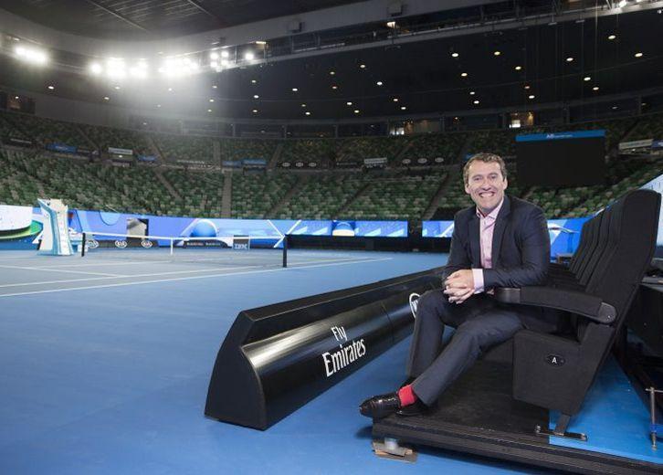 Les sièges VIP du court Rod Laver à Melbourne.
