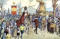 1915 : Les petits orphelins belges fêtent la Saint-Nicolas en France