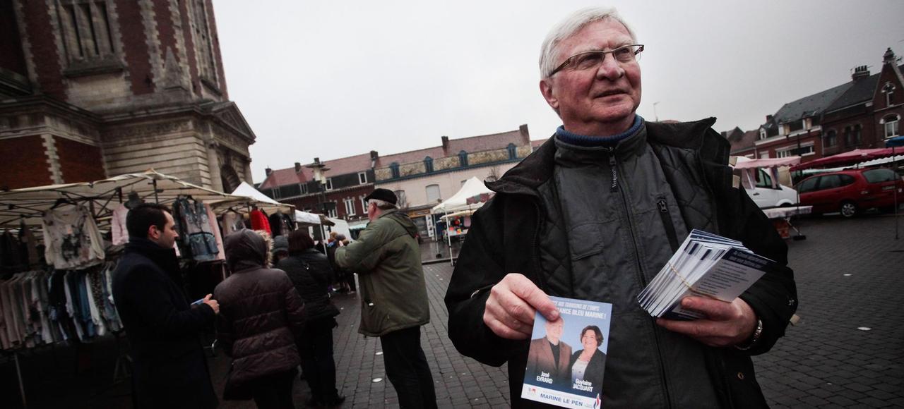Ancien communiste, José Evrard, candidat du Front national dans le canton d'Harnes, a obtenu au soir du premier tour, avec Guylaine Jacquart, 45,33% des suffrages.
