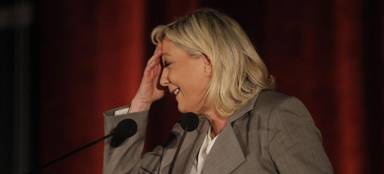 Marien Le Pen, en meeting à Hénin-Beaumont, le 25 mars.