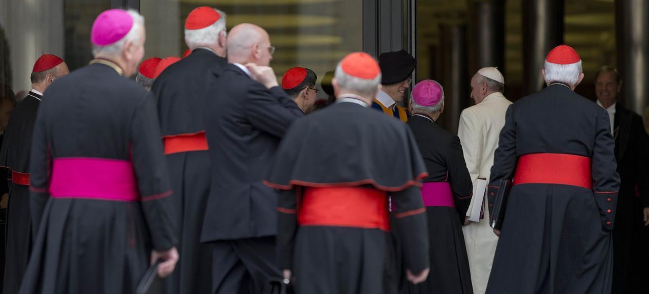 Le pape François au Vatican, lors d'un consistoire extraordinaire le 20 février 2014.