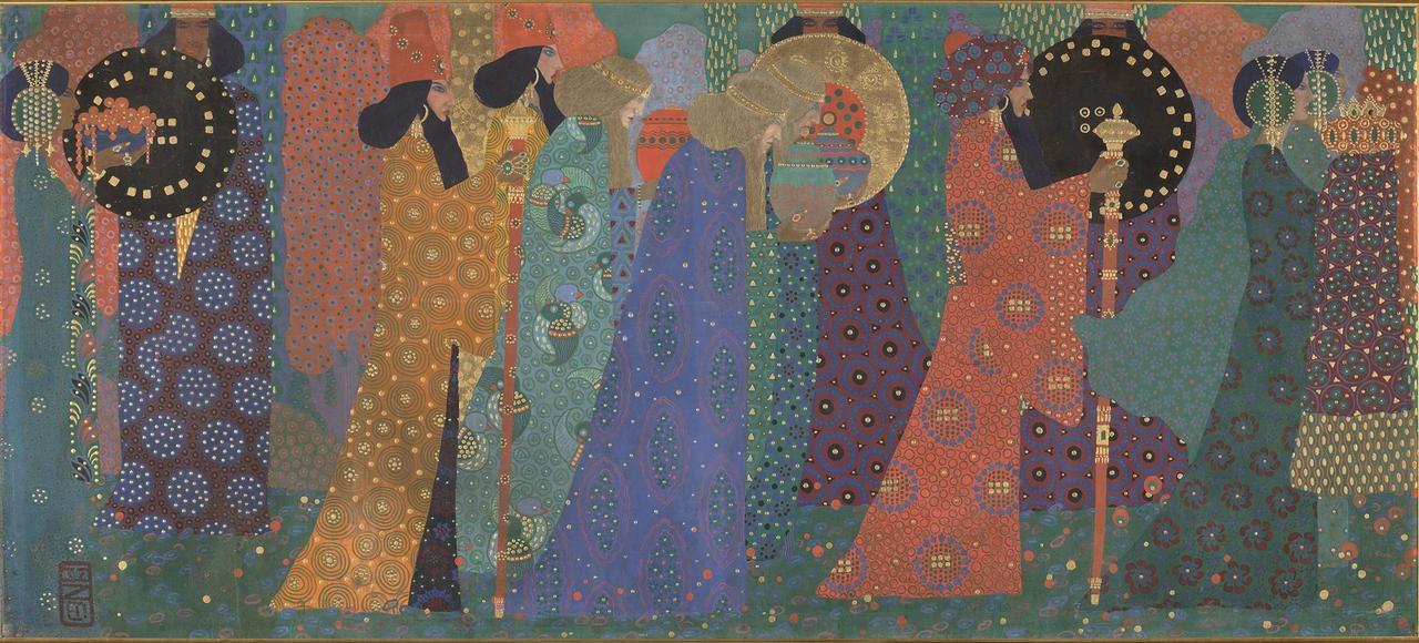 Entre peinture et tapisserie, art et décoration, «Les Mille et Une Nuits» de Vittorio Zecchin.