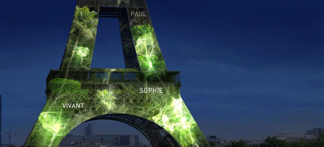 Les monuments de Paris seront éclairés avec des arbres créés virtuellement.