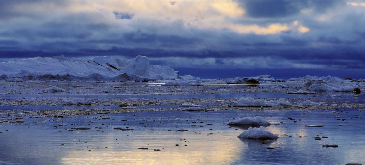 Un paysage de l'Arctique, au Groenland.