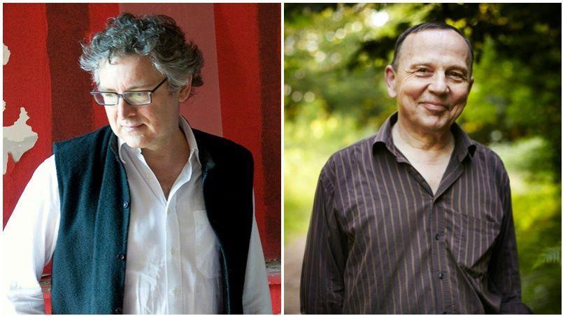 Michel Onfray <i> (à gauche)</i> et Christian Bobin, deux poètes à l'entendement parfait.