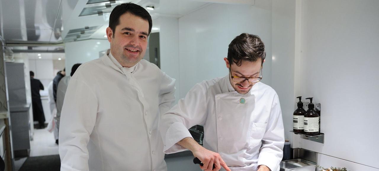 Le célèbre chef Jean-François Piège (à gauche) est membre du jury de Top Chef depuis 2010.