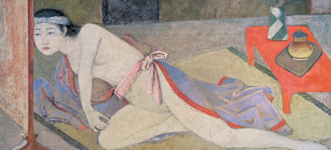 <i>Japonaise à la table rouge</i> (détail), Balthus, 1967-1976.