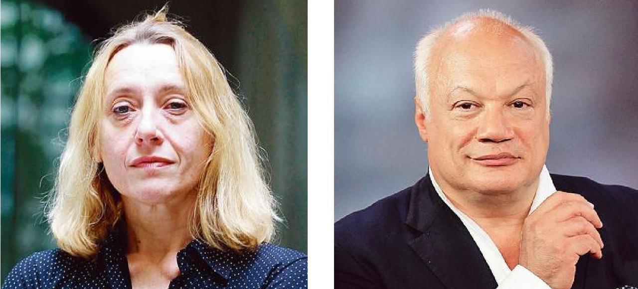 Virginie Despentes et Éric-Emmanuel Schmitt ont respectivement repris les couverts de Régis Debray et d'Edmonde Charles-Roux. SORIANO et MARMARA/Le Figaro