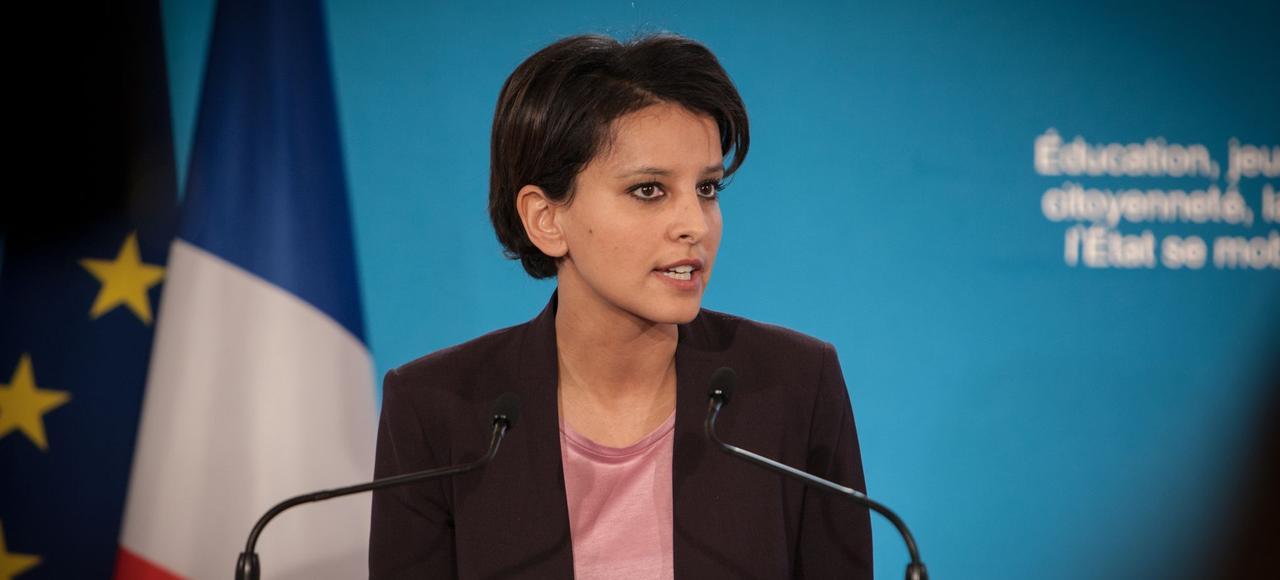 Najat Vallaud-Belkacem, le 22 janvier 2015.