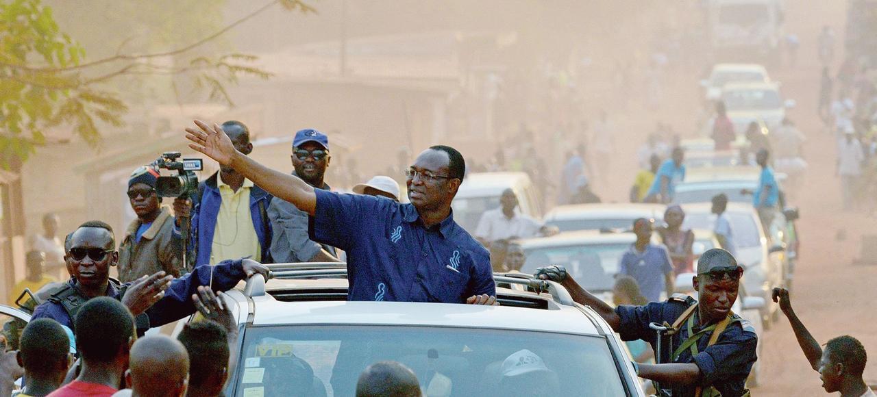 L'ancien premier ministre Anicet-Georges Dologuélé est arrivé en tête du premier tour, avec 23,7% des voix. ISSOUF SANOGO/AFP