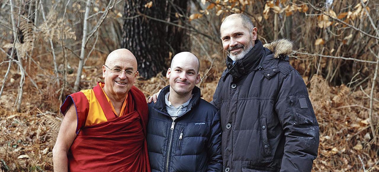 Matthieu Ricard, Alexandre Jollien et Christophe André.