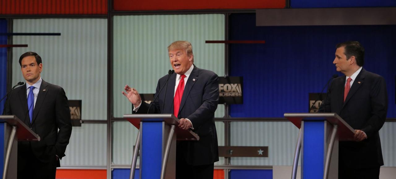 Marco Rubio, Donald Trump et Ted Cruz ont marqué des points en vue des primaires républicaines, lors débat diffusé jeudi par Fox Business.