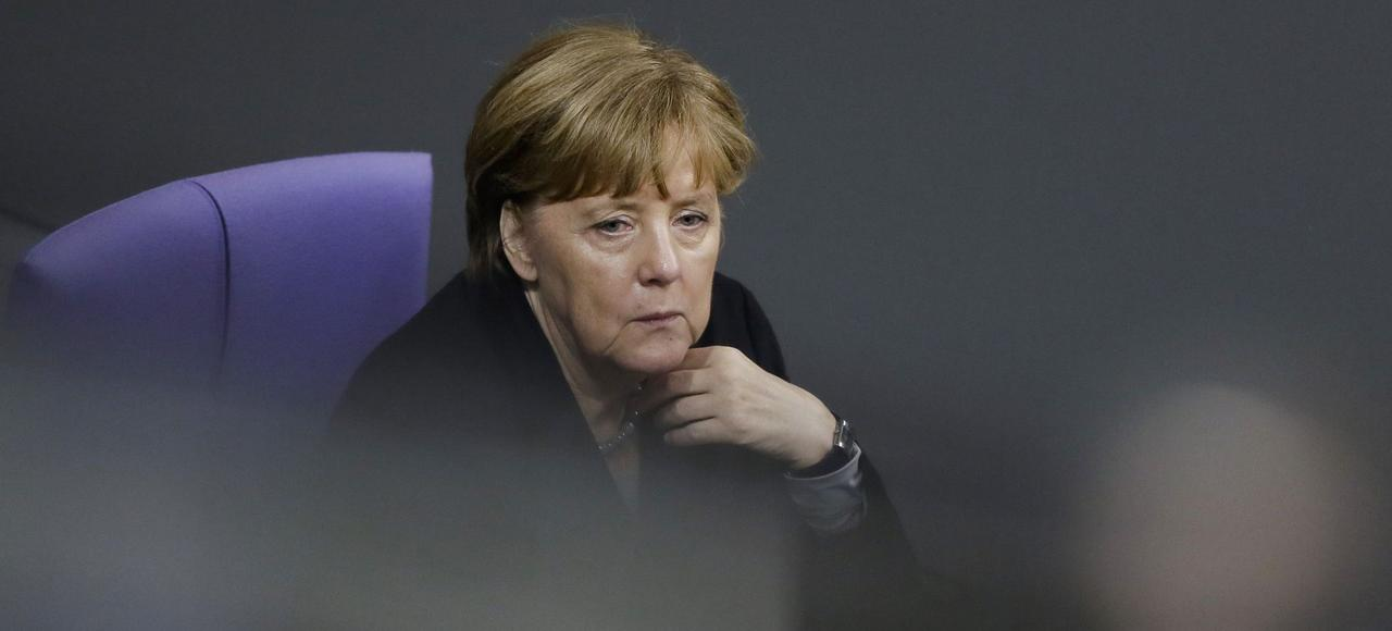 Angela Merkel, le 13 janvier au Buundestag, lors du débat sur les évènements de Cologne.