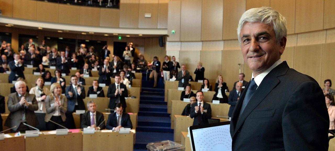 Hervé Morin au conseil régional de Normandie à Rouen.