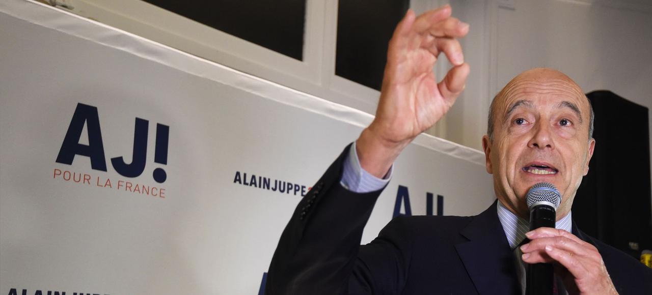 Alain Juppé lors d'un discours le 5 janvier à Paris.