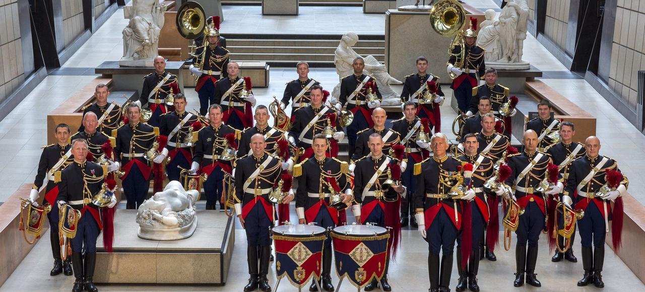 L'une des formations musicales de la garde républicaine.