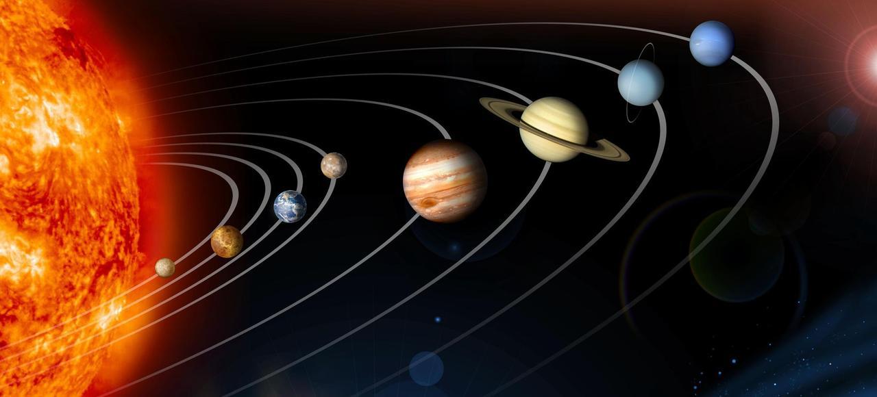 Vue d'artiste du Système solaire.