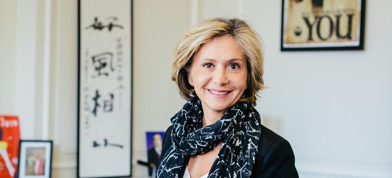 Valérie Pécresse, présidente de la région Île-de-France, jeudi, dans son bureau du VIIe arrondissement à Paris.